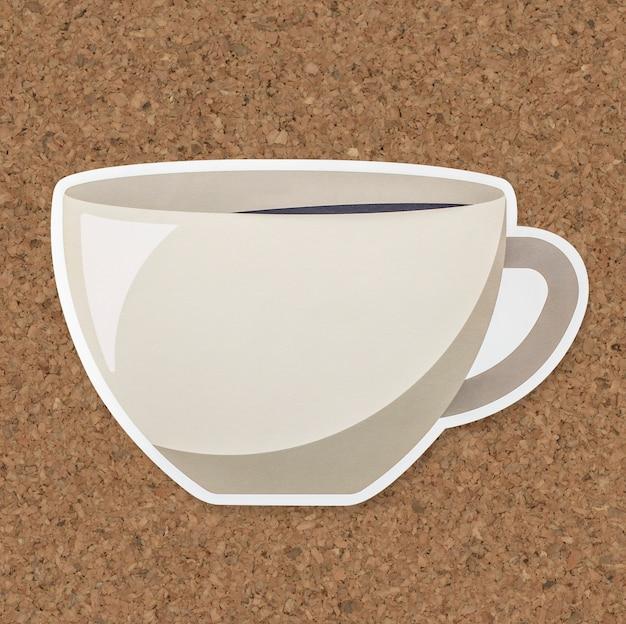 Una tazza dell'icona della bevanda calda isolata