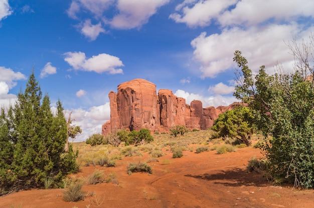 Una vista sul parco tribale navajo valle del monumento