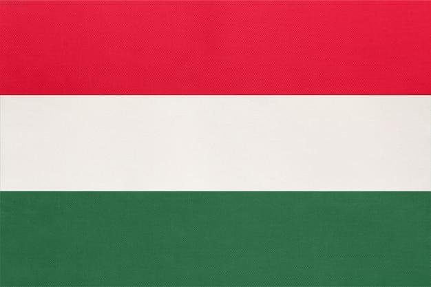 Ungheria bandiera nazionale in tessuto tessile