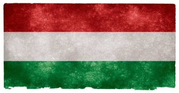 Ungheria grunge flag