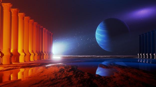 Universo e spazio, esplorazione della superficie del pianeta.