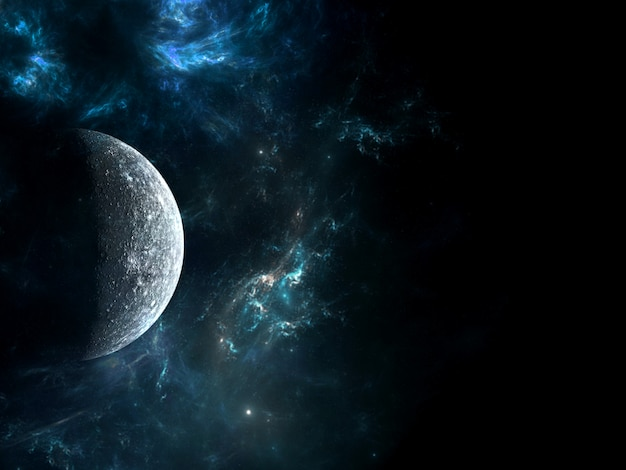 Universo tutta la materia e lo spazio esistenti considerati nel loro insieme il cosmo. scena con pianeti, stelle e galassie nello spazio esterno che mostrano la bellezza dell'esplorazione dello spazio.