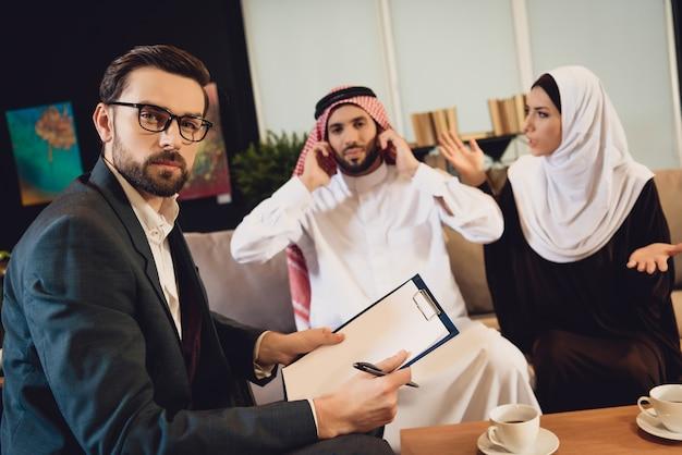 Uno psicologo di successo alla reception