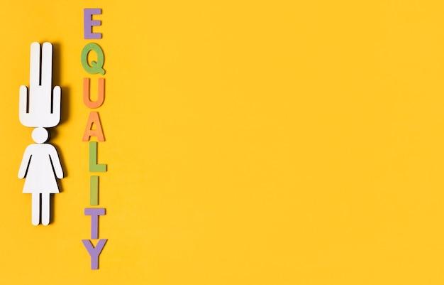 Uno spazio due sessi concetto di uguaglianza copia spazio