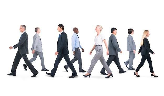 Uomini d'affari in movimento