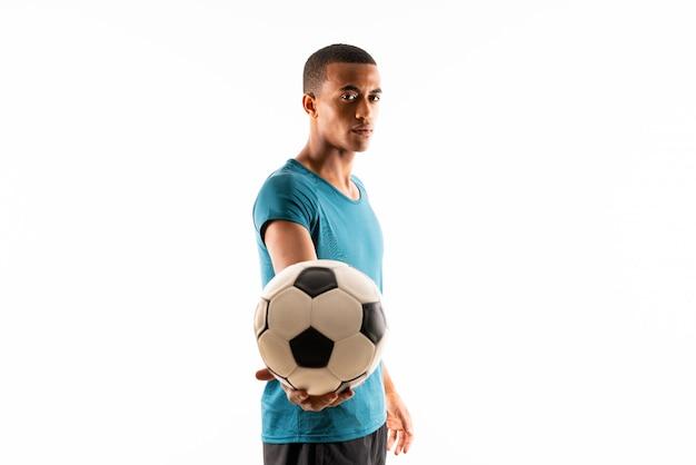 Uomo afroamericano del giocatore di football americano