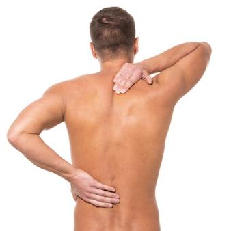 Uomo con mal di schiena