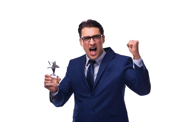 Uomo d'affari con premio stella