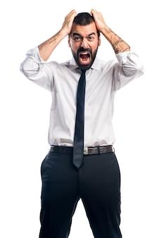 Uomo d'affari frustrato
