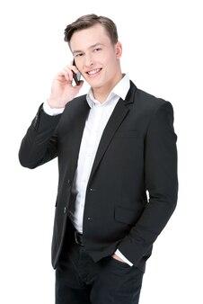 Uomo d'affari giovane sorridente