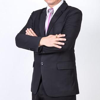 Uomo d'affari isolato su sfondo bianco. concetto per il business
