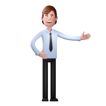 Uomo d'affari isolato su sfondo bianco