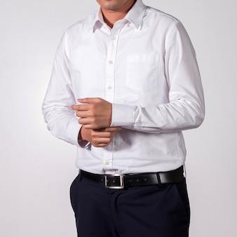 Uomo d'affari su sfondo bianco