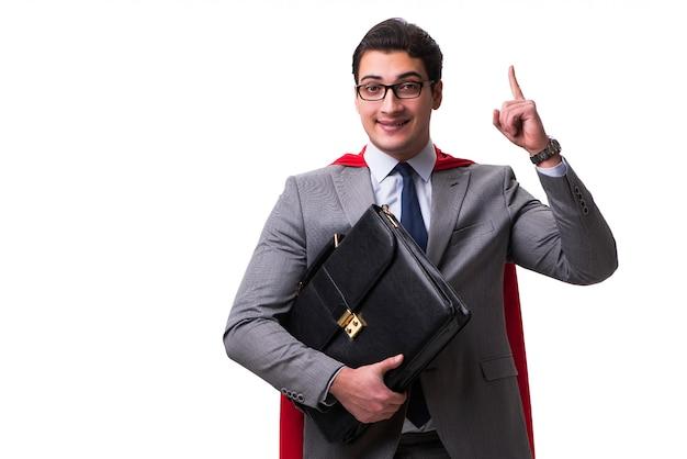 Uomo d'affari super eroe isolato