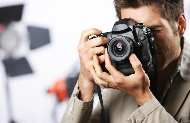 Uomo di fotografia