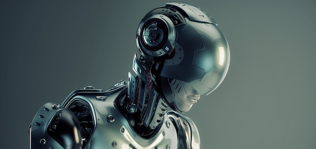 Uomo di robot di fantascienza