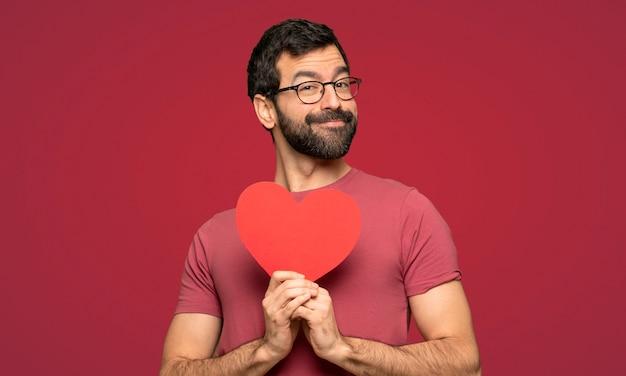 Uomo nel giorno di san valentino