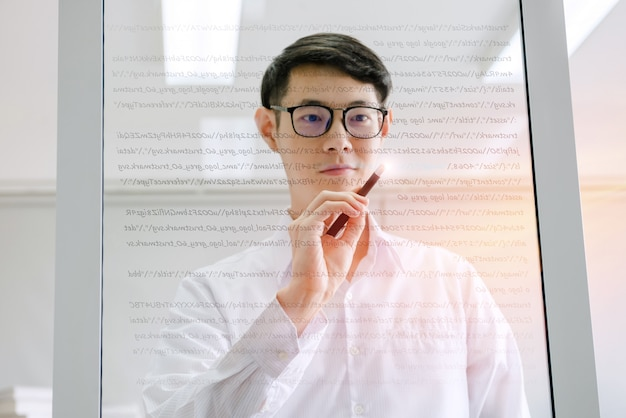 Uomo programmatore