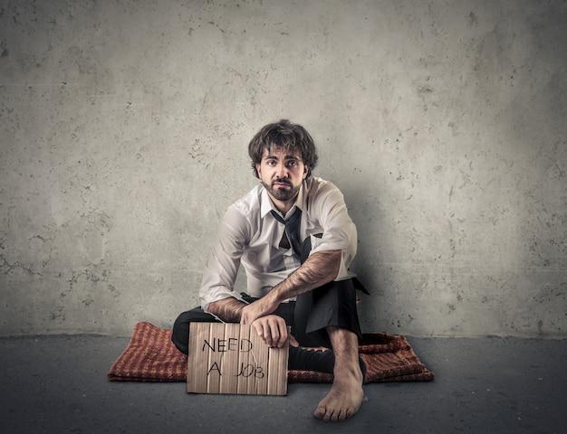 Uomo senza lavoro