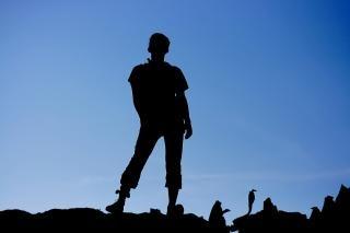 Uomo silhouette persone