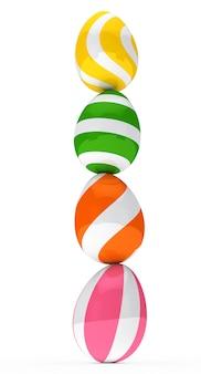 Uova colorate in equilibrio