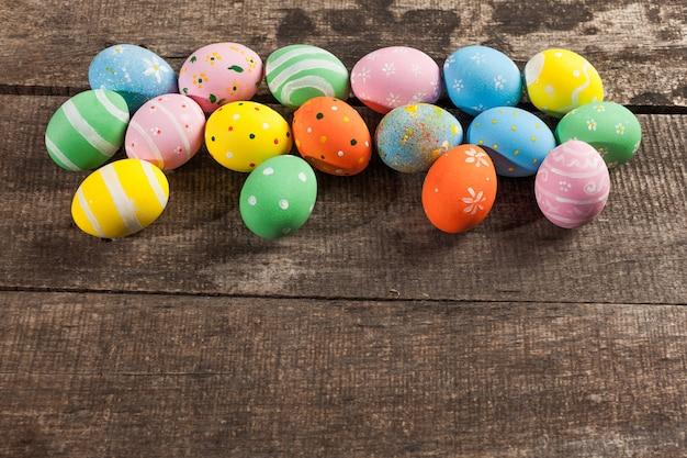 Uova di pasqua colorate d'epoca