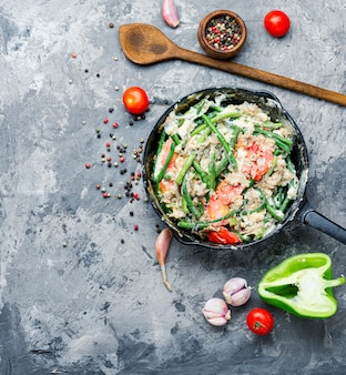Uova strapazzate dietetiche dalle proteine