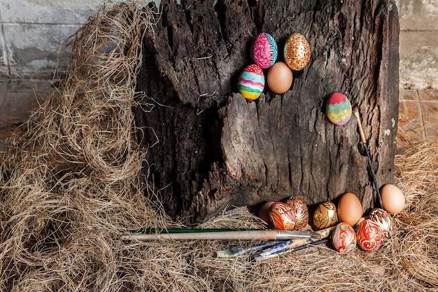 Uovo di pasqua colorato