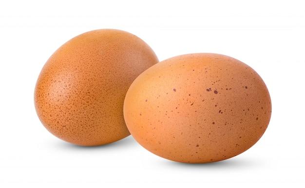 Uovo isolato su bianco