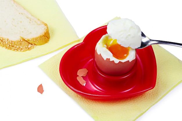 Uovo per colazione in tribuna