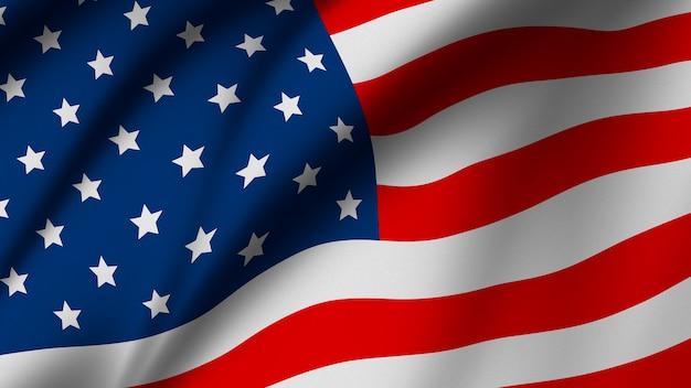 Usa o bandiera americana sullo sfondo