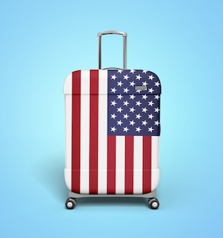 Usa suitcase - vacation