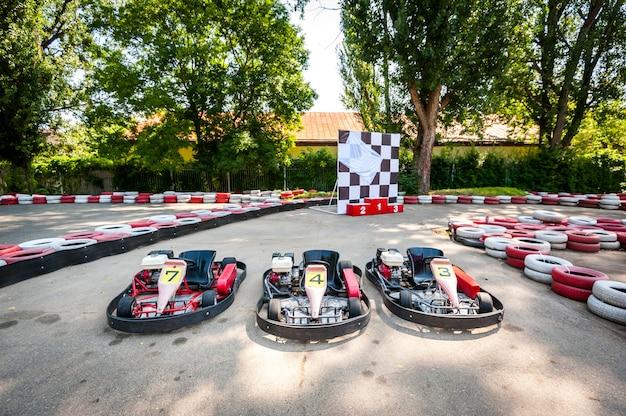 Vai a gara sportiva di gare di velocità su kart