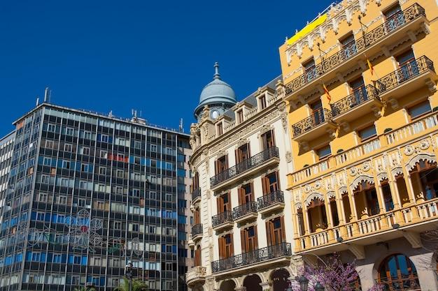 Valencia plaza ayuntamiento downtown in spagna