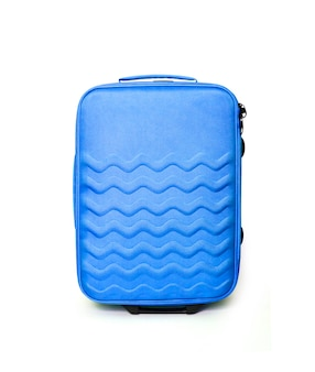 Valigia blu di viaggio isolata