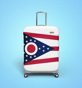 Valigia della bandiera dell'ohio - vacanza