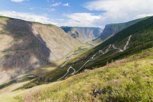 Valle del fiume, vista dall'alto