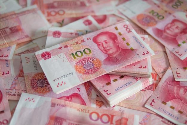 Valuta delle banconote yuan cinese (cny, rmb) per la borsa di affari finanziari internazionali