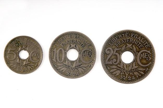 Valuta francese del xx secolo 5,10 e 25 centesimi