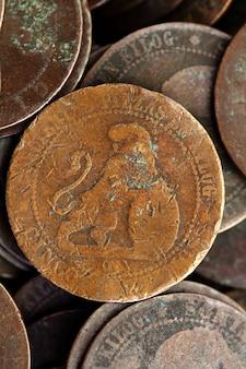 Valuta reale e centesimi della repubblica 1937 della vecchia spagna della moneta della moneta