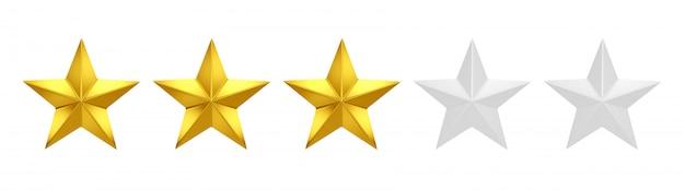 Valutazione su tre stelle su cinque