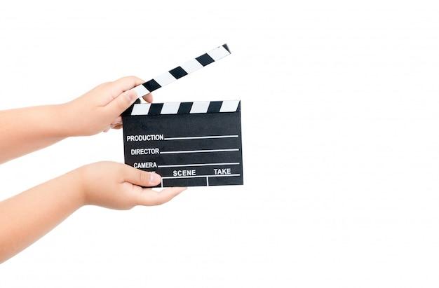 Valvola di film della tenuta del bambino isolata su bianco