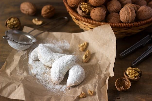 Vanilkipferl - mezzaluna alla vaniglia, biscotti tradizionali fatti in casa