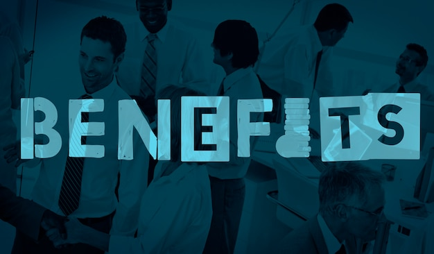 Vantaggi vantaggio concetto di indennità bonus