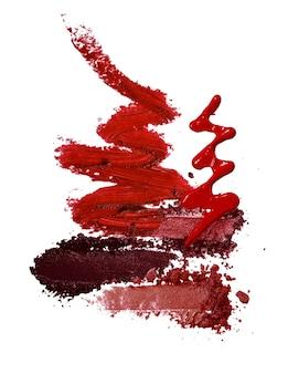 Vari sfondo di tema rosso cosmetico