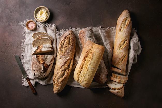 Varietà di pane artigianale