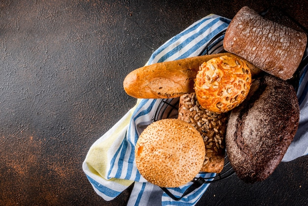 Varietà di pane integrale fatto in casa
