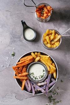 Varietà di patatine fritte