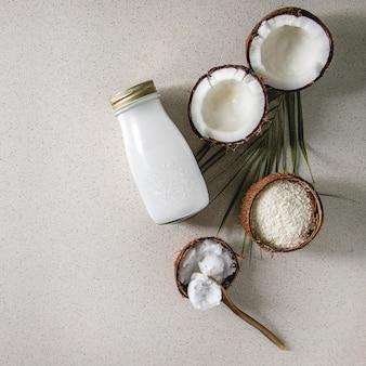 Varietà di prodotti a base di cocco