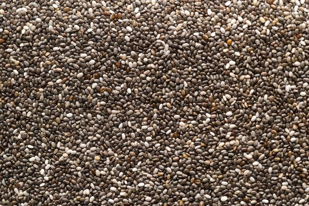 Varietà di semi vista dall'alto sullo sfondo